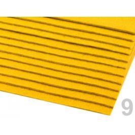 Látková dekoratívna plsť / filc 20x30 cm žĺtková 2ks Stoklasa