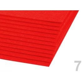 Látková dekoratívna plsť / filc 20x30 cm červená 2ks Stoklasa
