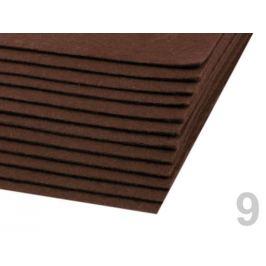 Látková dekoratívna plsť / filc 20x30 cm hnedá 2ks Stoklasa