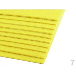 Samolepiaca dekoratívna plsť / filc 20x30 cm žltá narcisová 10ks Stoklasa
