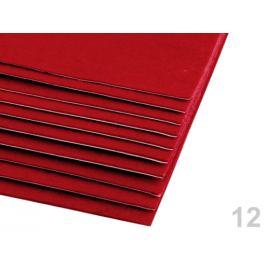 Samolepiaca dekoratívna plsť / filc 20x30 cm červená 10ks Stoklasa