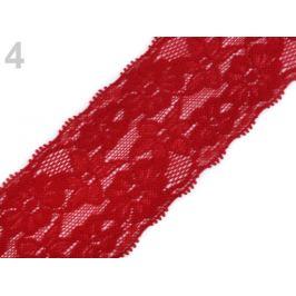 Elastická čipka  /  vsádka  šírka  60 mm Fiery Red 13.5m Stoklasa