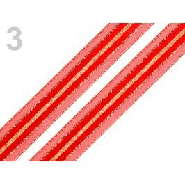 Stuha s lurexom šírka 15 mm červená 30m Stoklasa