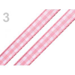 Károvaná stuha šírka 7 mm ružová prášková 20m Stoklasa