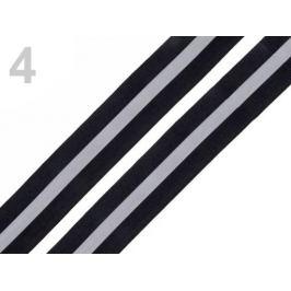 Páska reflexná šírka 30mm na tkanine čierna 5m Stoklasa
