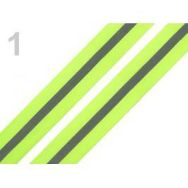 Páska reflexná šírka 30mm na tkanine žltozelená ref. 5m Stoklasa