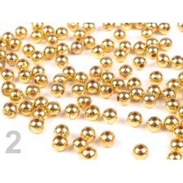 Plastové voskové koráliky / perly Glance Metalic Ø4 mm zlatá svetlá 10g Stoklasa
