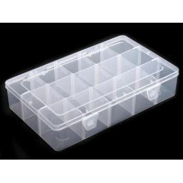 Plastový box / zásobník 16x27,5x5,5 cm Transparent 1ks Stoklasa