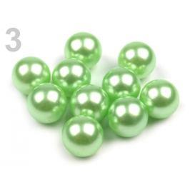 Dekoračné guľky / perly bez dierok  Ø10 mm zelená sv. 10ks Stoklasa