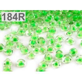 Rokajl sklenený S FAREBNÝM PRIEŤAHOM 4mm zelená sv. 50g Stoklasa