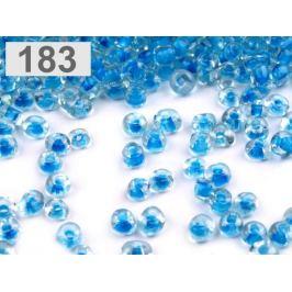 Rokajl sklenený S FAREBNÝM PRIEŤAHOM 4mm modrá detská 50g Stoklasa