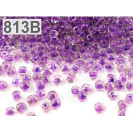 Rokajl sklenený S FAREBNÝM PRIEŤAHOM 4mm fialová gebera 50g Stoklasa