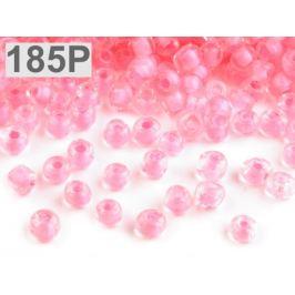 Rokajl sklenený S FAREBNÝM PRIEŤAHOM 4mm ružová str. 50g Stoklasa