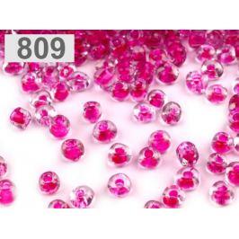 Rokajl sklenený S FAREBNÝM PRIEŤAHOM 2mm ružová kriklavá 50g Stoklasa