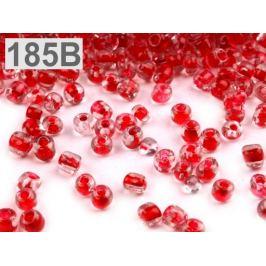Rokajl sklenený S FAREBNÝM PRIEŤAHOM 2mm červená  50g Stoklasa