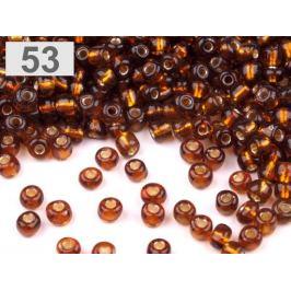 Rokajl sklenený 6/0 s prieťahom 4mm hrdzavá str. 50g Stoklasa