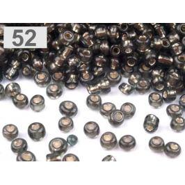 Rokajl sklenený 6/0 s prieťahom 4mm šedá 50g Stoklasa
