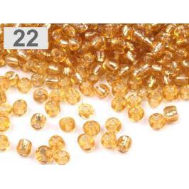 Rokajl sklenený 6/0 s prieťahom 4mm zlatá 50g Stoklasa