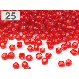 Rokajl sklenený 8/0 s prieťahom 3mm červená 50g Stoklasa