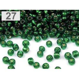 Rokajl sklenený 8/0 s prieťahom 3mm zelené papradie 50g Stoklasa