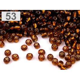 Rokajl sklenený 8/0 s prieťahom 3mm hrdzavá str. 50g Stoklasa