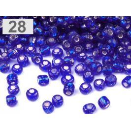 Rokajl sklenený 8/0 s prieťahom 3mm modrá námornícka 50g Stoklasa