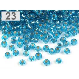 Rokajl sklenený 8/0 s prieťahom 3mm modrá azuro 50g Stoklasa