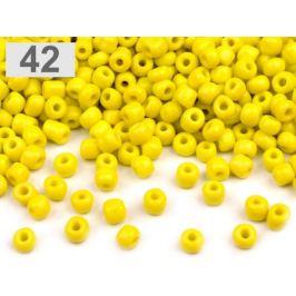 Rokajl  6/0 - 4 mm nepriehľadný žltá žiarivá 50g Stoklasa