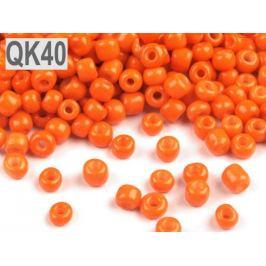 Rokajl  6/0 - 4 mm nepriehľadný oranžová   50g Stoklasa