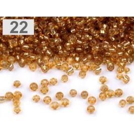 Perličky rokajl 12/0 s prieťahom 2mm zlatá 50g Stoklasa