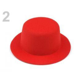 Mini klobúčik / fascinátor na dozdobenie Ø13,5 cm červená 1ks Stoklasa
