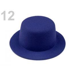 Mini klobúčik / fascinátor na dozdobenie Ø13,5 cm modrá berlínska 1ks Stoklasa