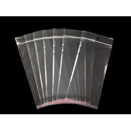 Celofánové sáčiky s lepiacou lištou a závesom 11x20 cm Transparent 100ks Stoklasa