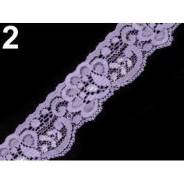 Čipka elastická šírka 35 mm Lavender Fog 25m Stoklasa