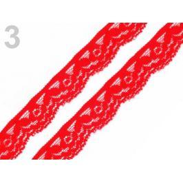 Čipka elastická šírka 20 mm červená 25m Stoklasa