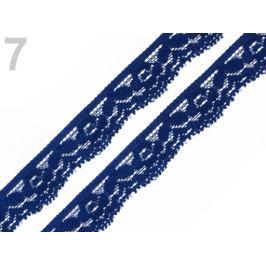 Čipka elastická šírka 20 mm modrá berlínska 25m Stoklasa
