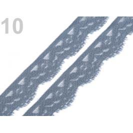 Čipka elastická šírka 20 mm šedá 25m Stoklasa