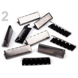 Koncovka kovová šírka 40 mm nikel čierny 10ks Stoklasa