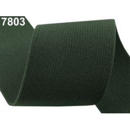 Guma hľadká šírka 50mm tkaná farebná ČESKÝ VÝROBOK Avocado 25m