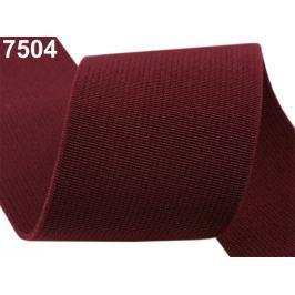 Guma hľadká šírka 50mm tkaná farebná ČESKÝ VÝROBOK Beaujolais 25m