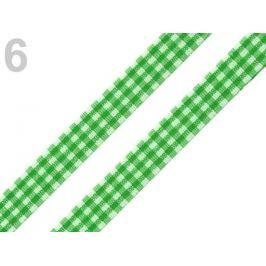 Károvaná stuha  rezaná šírka 12 mm zelená pastelová 45m Stoklasa