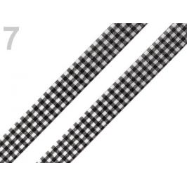 Károvaná stuha  rezaná šírka 12 mm čierna 45m Stoklasa