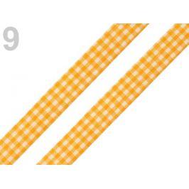 Károvaná stuha  rezaná šírka 12 mm žltá 45m Stoklasa