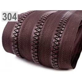 Zips kosticový 8mm metráž Chocolate Brown 1m Stoklasa