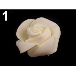 Dekoračná penová ruža Ø4,5 cm krémová najsvetl 10ks Stoklasa