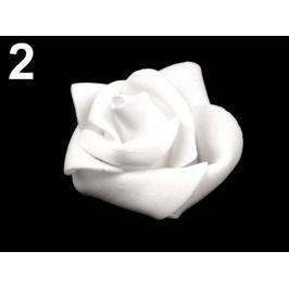Dekoračná penová ruža Ø4,5 cm biela 10ks Stoklasa