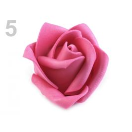 Dekoračná penová ruža Ø4,5 cm ružová 10ks Stoklasa
