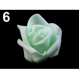 Dekoračná penová ruža Ø4,5 cm zelená vodová 10ks Stoklasa