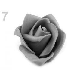 Dekoračná penová ruža Ø4,5 cm šedá sv. 10ks Stoklasa