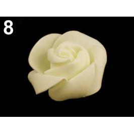 Dekoračná penová ruža Ø4,5 cm krémová sv. 10ks Stoklasa